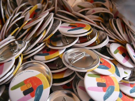 Pincause buttons sell for $5 apiece, with $1 of each