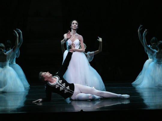 "Erica De La O and Kristopher Wojtera in the Louisville Ballet's 2014 production of ""Giselle."""