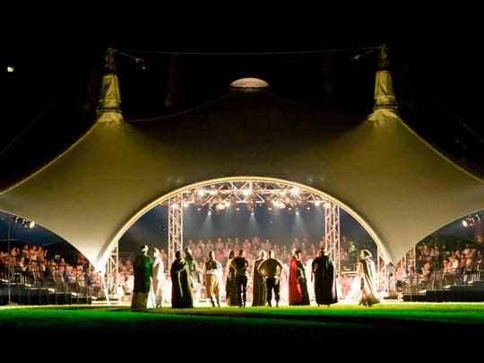 The Hudson Valley Shakespeare Festival's open air tent sits on the grounds of the historic 19th century Boscobel estate in Garrison.