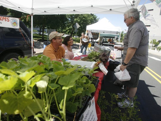 Buying fresh produce from Central Jersey's farmers markets is a way to improve your diet.