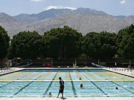 This Desert Sun file photo shows the Palm Springs Swim Center. It's among local public pools that are closed this summer due to efforts to reduce the spread of coronavirus.