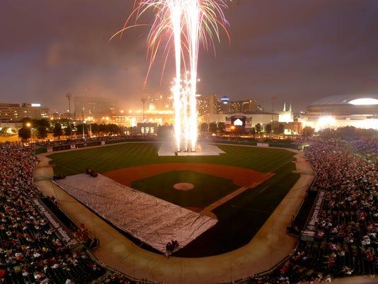 Victory Field fireworks