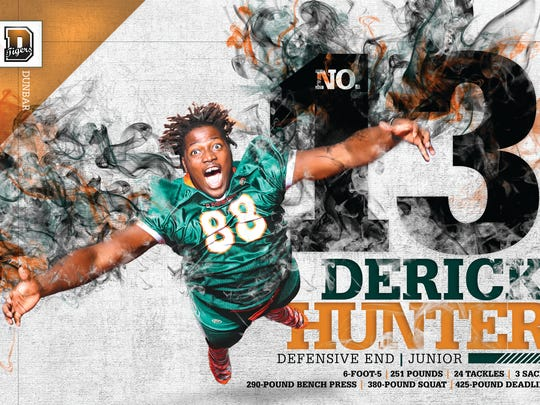 Dunbar defensive end Derick Hunter de-committed from Miami last year.