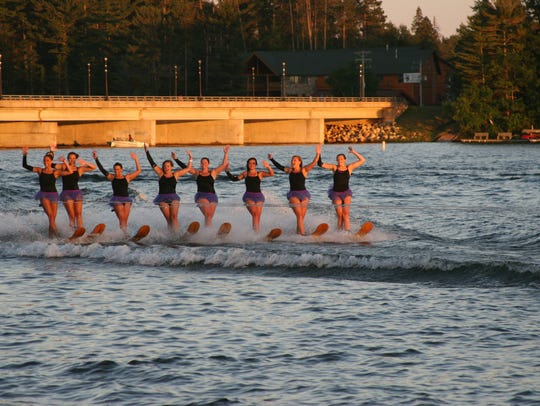 The Min-Aqua Bats have been performing on Lake Minocqua