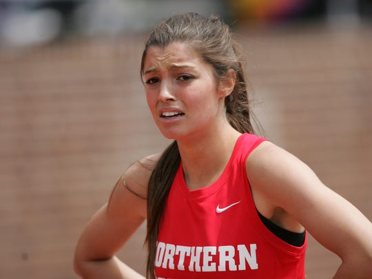 Madison Holleran is shown during the Penn Relays on