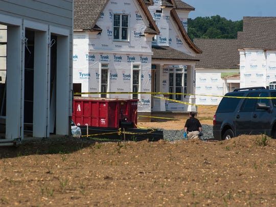 Scene at a residence in Holmdel were Monmouth County