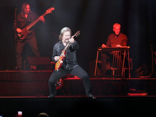Travis Tritt performs at the UW-Milwaukee Panther Arena