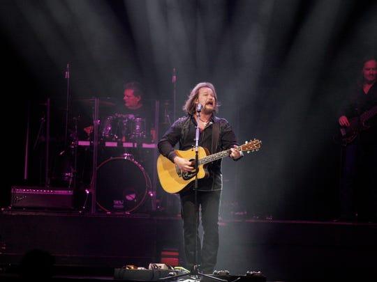 Travis Tritt performs at the UW-Milwaukee Panther Arena Saturday.
