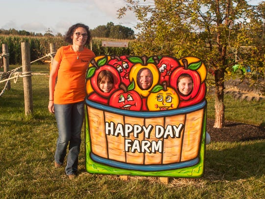 Owners of the Happy Day Farm, the Stockel family, offer