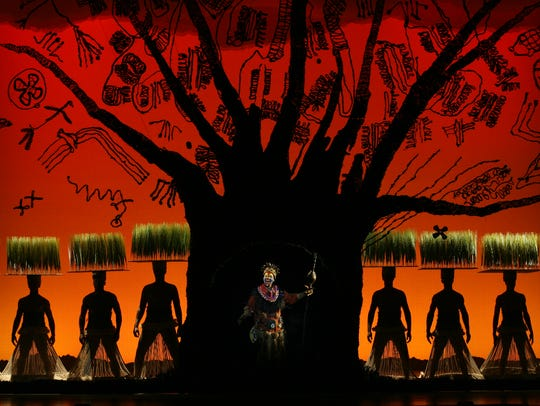 "The culture of Africa takes center stage along with the actors in ""The Lion King"" production."