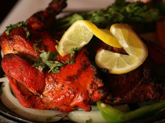 Tandoori Chicken at BHOJ on Market St. in Elmwood Park.