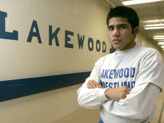 Oscar Orellana in 2005, when he was a senior wrestler at Lakewood High School.