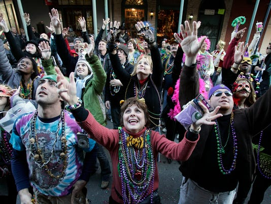 New Orleans Parties During Traditional Mardi Gras Celebration