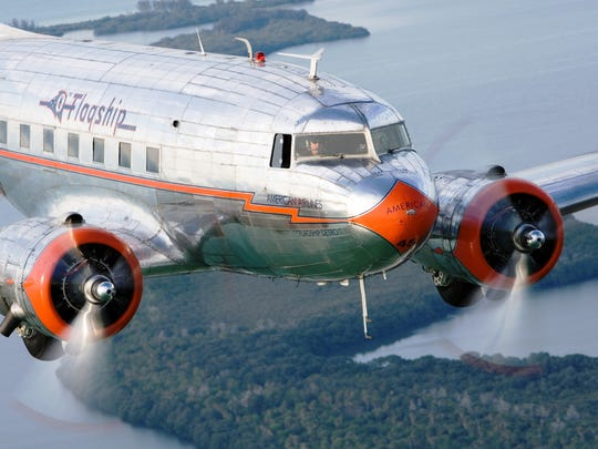 A close-in view of the 1937 American Airlines Flagship