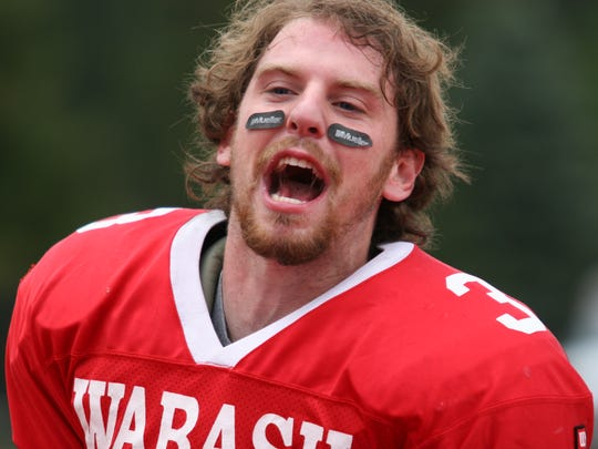 Russ Harbaugh was quarterback at Wabash in 2005. While there, he also made his first movie, about the university's all-male history.