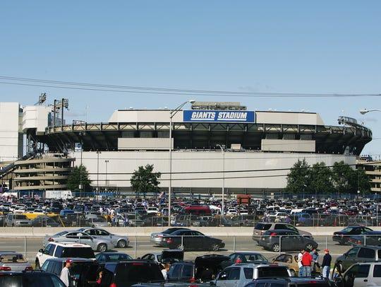 Giants Stadium, near where Jason Biggs grew up.