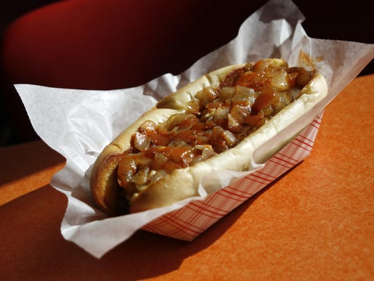 The Delaware Destroyer hot dog was created by customer