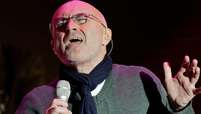 British pop singer Phil Collins performs in 2010 in Milan, Italy.
