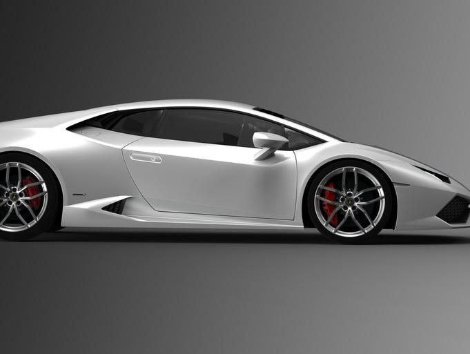 Lamborghini's new Huracan supercar, successor to the Gallardo, looks stunning from the side