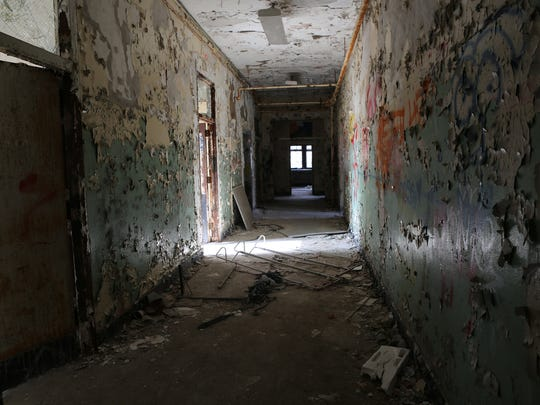 A view of the interior of what was the main hospital