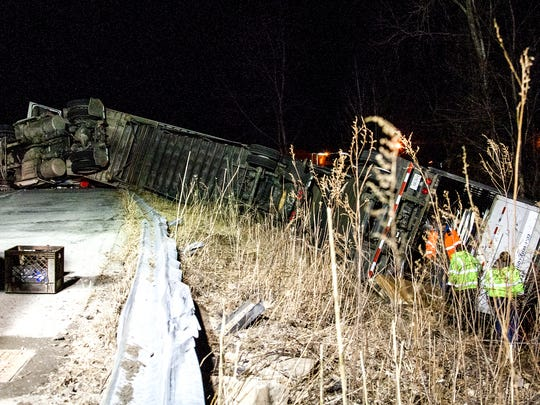 The tractor trailer was headed westbound on Route 204 at about 8 p.m. when the crash happened.