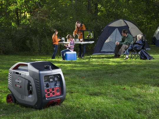 A portable generator can power electronic equipment