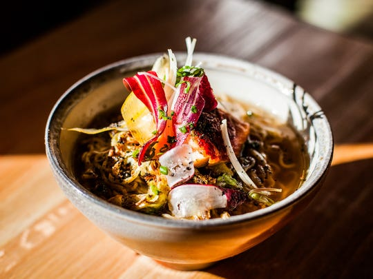 """Futo Buta, a name that loosely translates to """"fat pig,"""" serves up a variety of ramen dishes with organic noodles that are created in-house and served in locally-made bowls."""