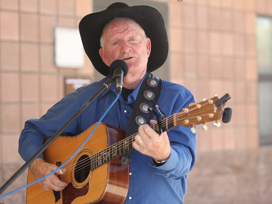 Marshall Trimble plays a set at the Payson Book Festival