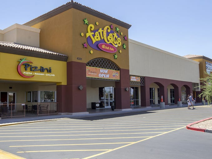 The Greenfield Plaza shopping center in Gilbert all