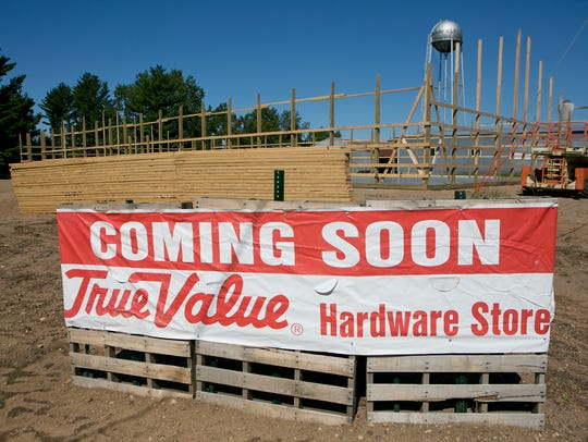 True Value Harware Store's construction site in Plainfield