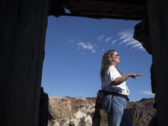 Pat Hicks, regional archaeologist for the Bureau of