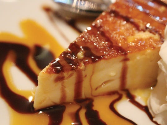 The flan is exclusively made by Lapa's Costa Rican Bistro owner and chef Sylvia Abarca.