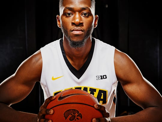 Iowa junior forward Dale Jones poses for a portrait