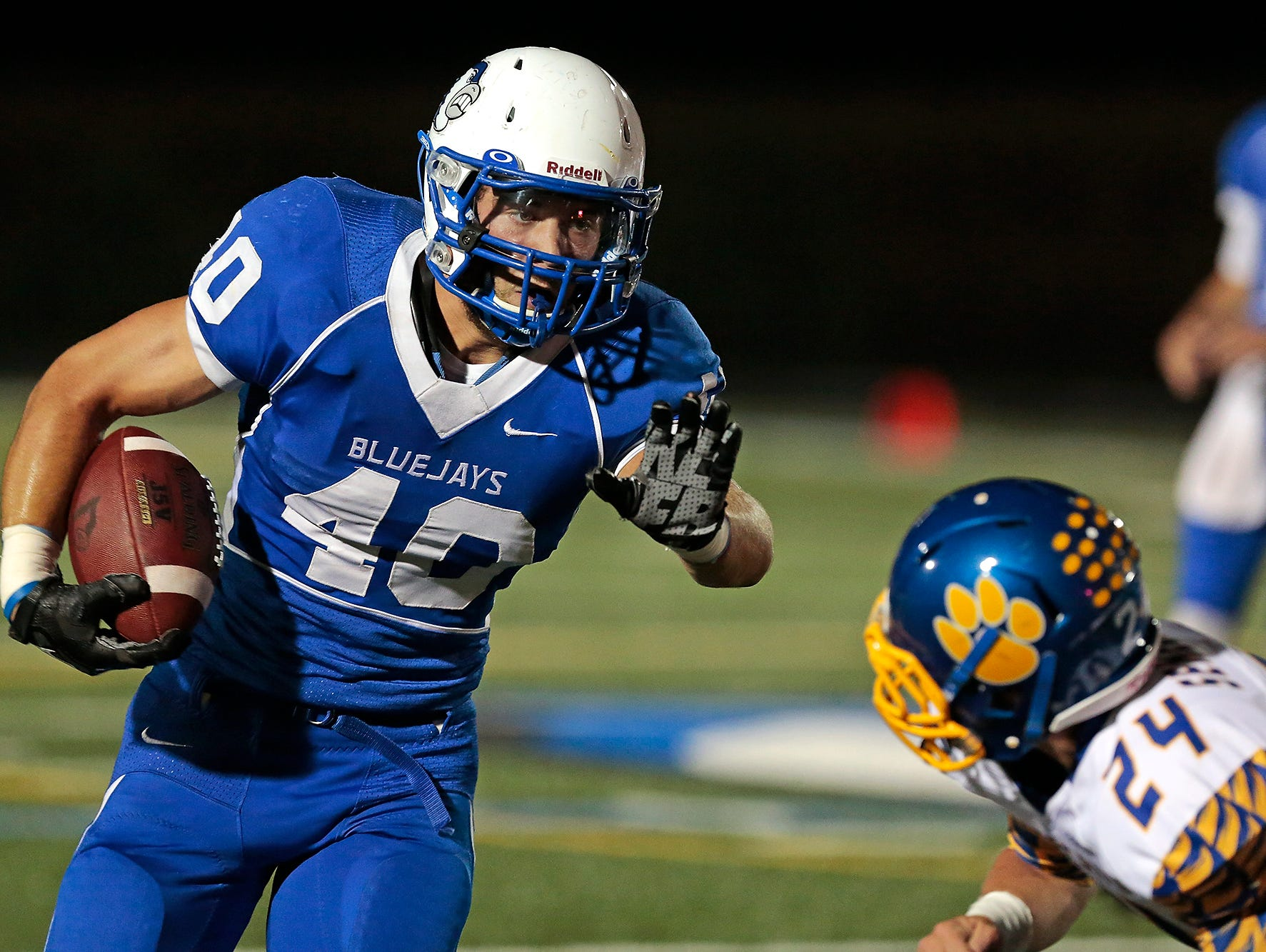 Bondurant-Farrar and running back Cole Schlenker (40) are locked in a heated race for a playoff spot in Class 3A District 6.