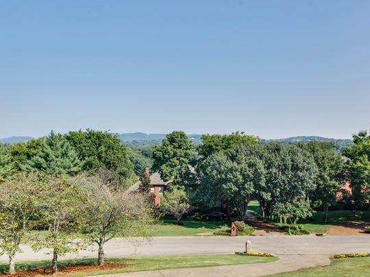 The view from the front door of this home in the Brentmeade neighborhood of Brentwood.