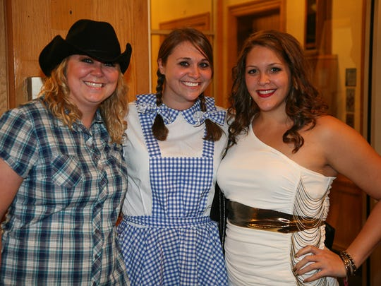 Michelle Noack, Dorothy Gale and Ashley Ewalt were among the partiers when the Des Moines Social Club held its Best Halloween Ever party in 2011.