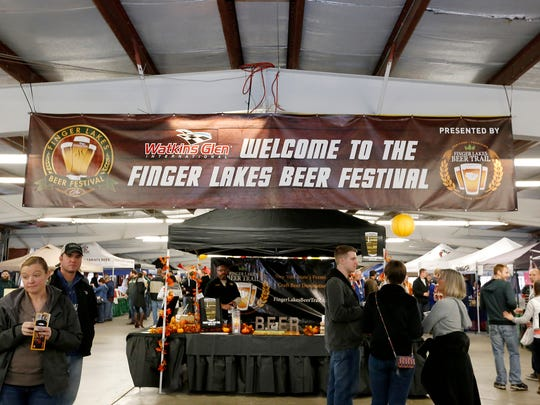 Nearly 4,000 people filed into the garage at Watkins Glen International Saturday for the Finger Lakes Beer Festival, an event presented by the Finger Lakes Beer Trail and WGI. The day was complete with 50 breweries, distilleries and cideries, and stein holding and cornhole competitions.