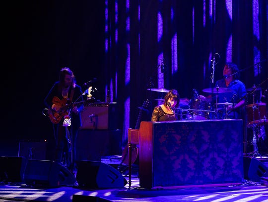 Singer-songwriter Norah Jones performs for the crowd