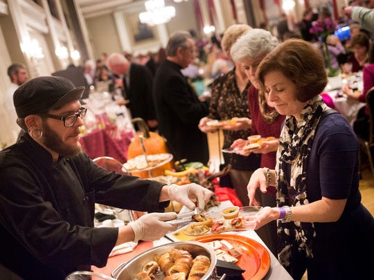 Desserts from Janina's Fine Desserts. Temple Beth Israel holds its Flavors of York fundraiser, featuring food samples from 20 local restaurants, caterers and food vendors, at the Yorktowne Hotel in York, Sunday, November 1, 2015.