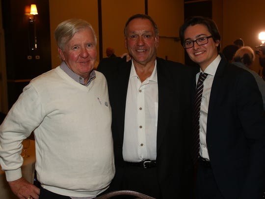 Some of the winners for the Democrats included, from left, Councilman Bill Berg, Vestal supervisor John Schaffer and newly elected Councilman Conrad Taylor.