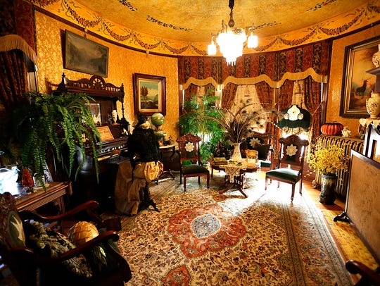 Rooms in the Painted Lady resemble those in museums.