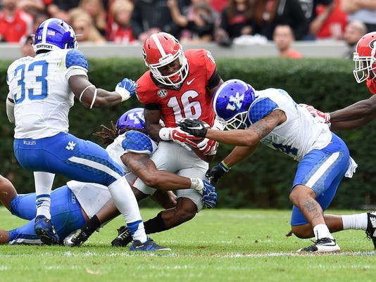 NCAA Football: Kentucky at Georgia