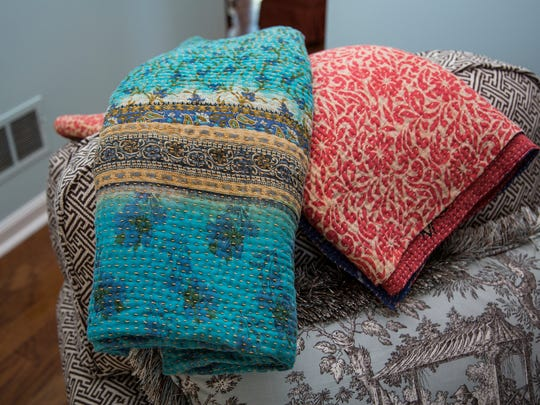 When cold, Style Maker Gray Middleton loves to snuggle up with her quilts from the Anchal Project.