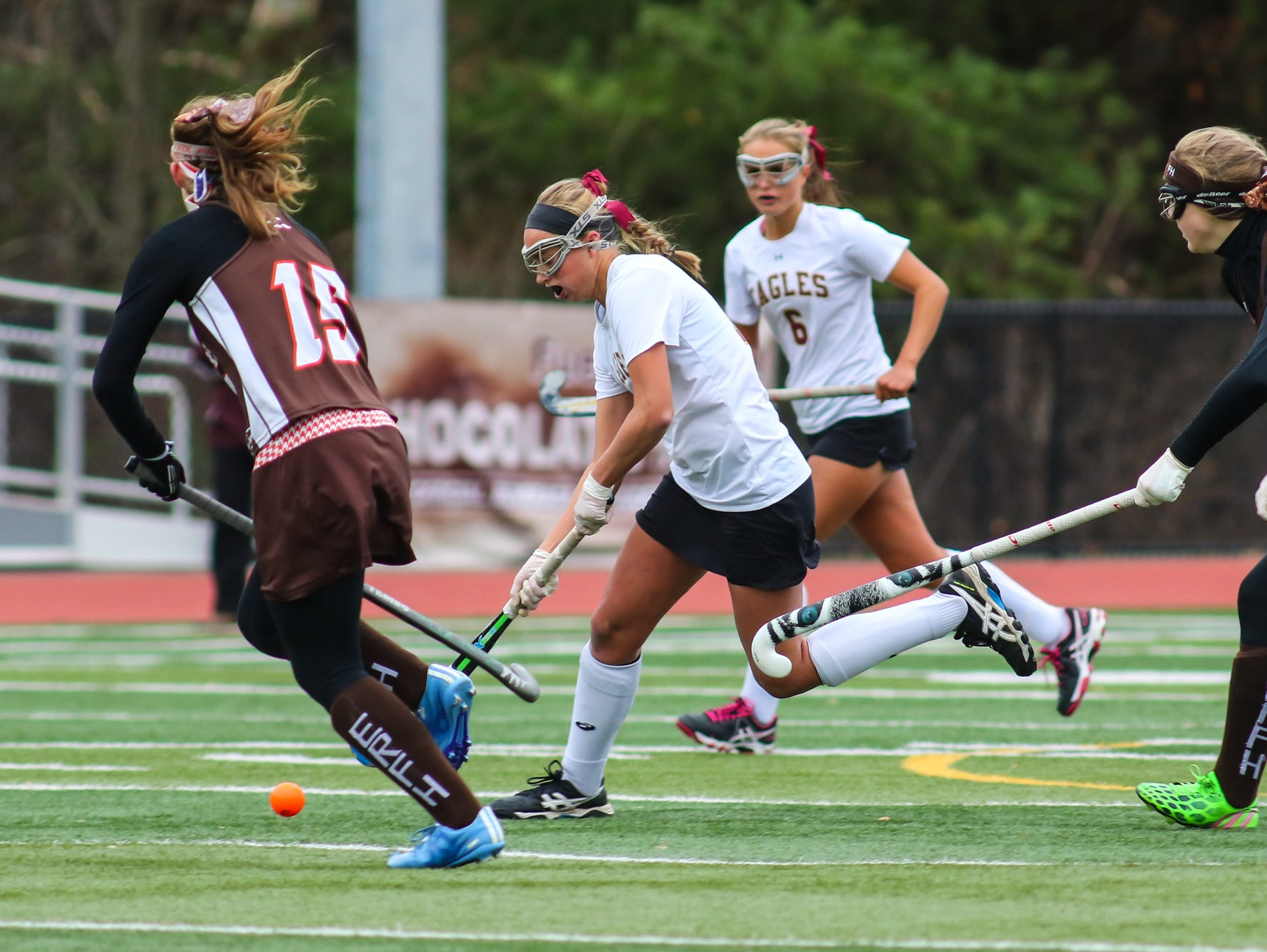 Whitney Point plays East Rochester in a Class C field hockey state semifinal on Saturday at Maine-Endwell.