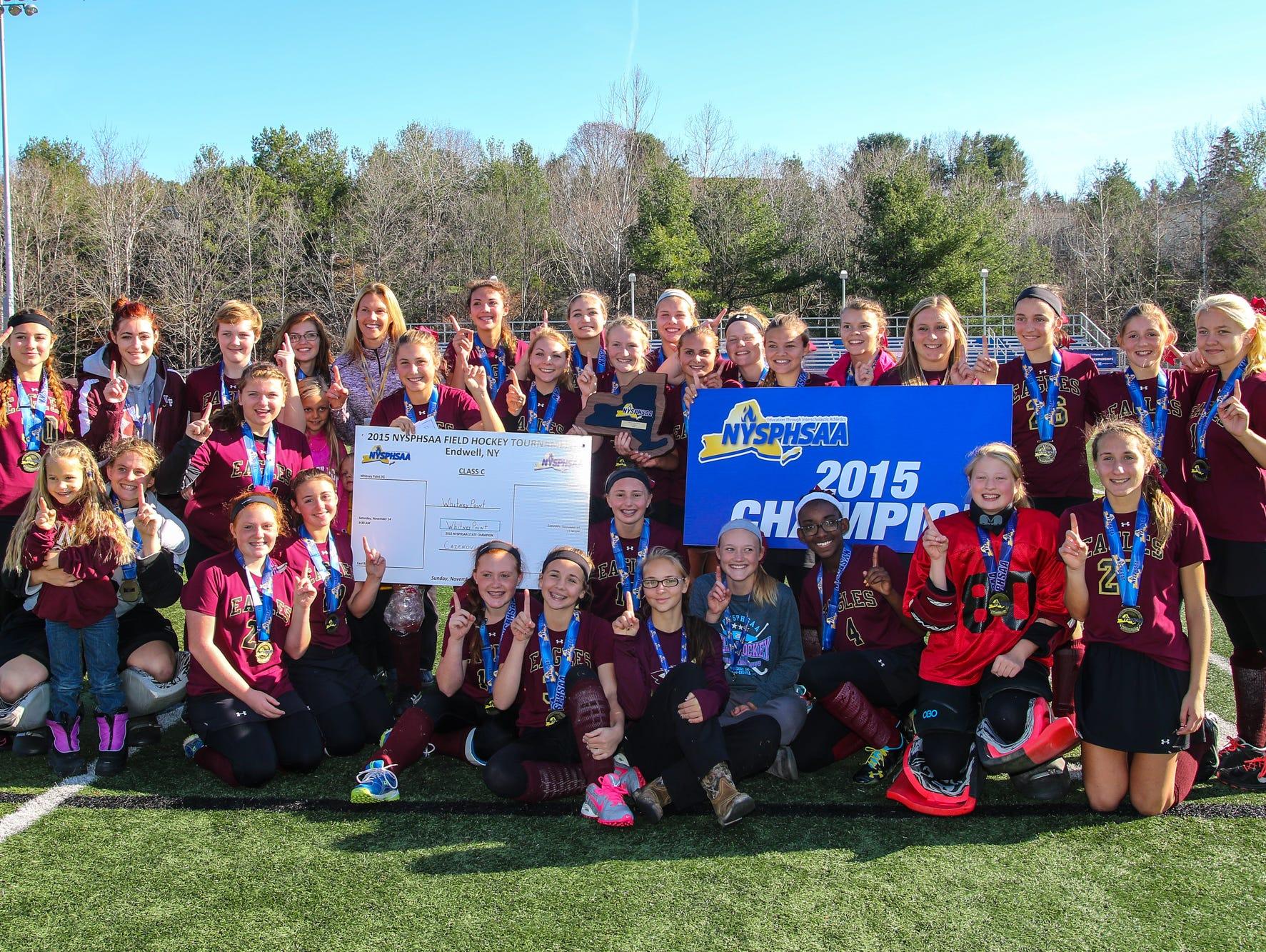 2015 state Class C field hockey champion Whitney Point.