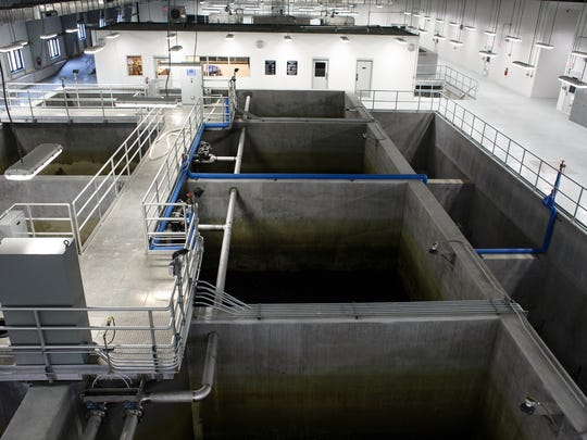 Tanks used to purify water at the Rathbun Regional Water Association Plant in Rathbun on Thursday, October 29, 2015. The plant came online in July of 2013 and is the largest in the state.