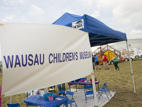 The Wausau Children's Museum's booth is pictured above