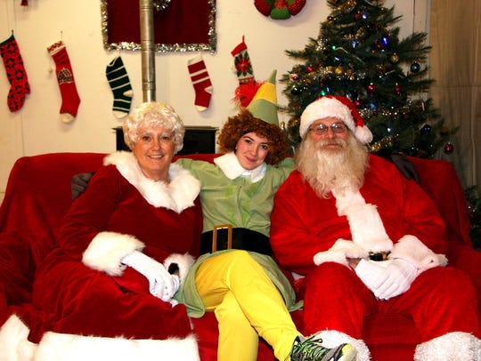 Santa, Mrs. Claus and Elf were on hand at last year's