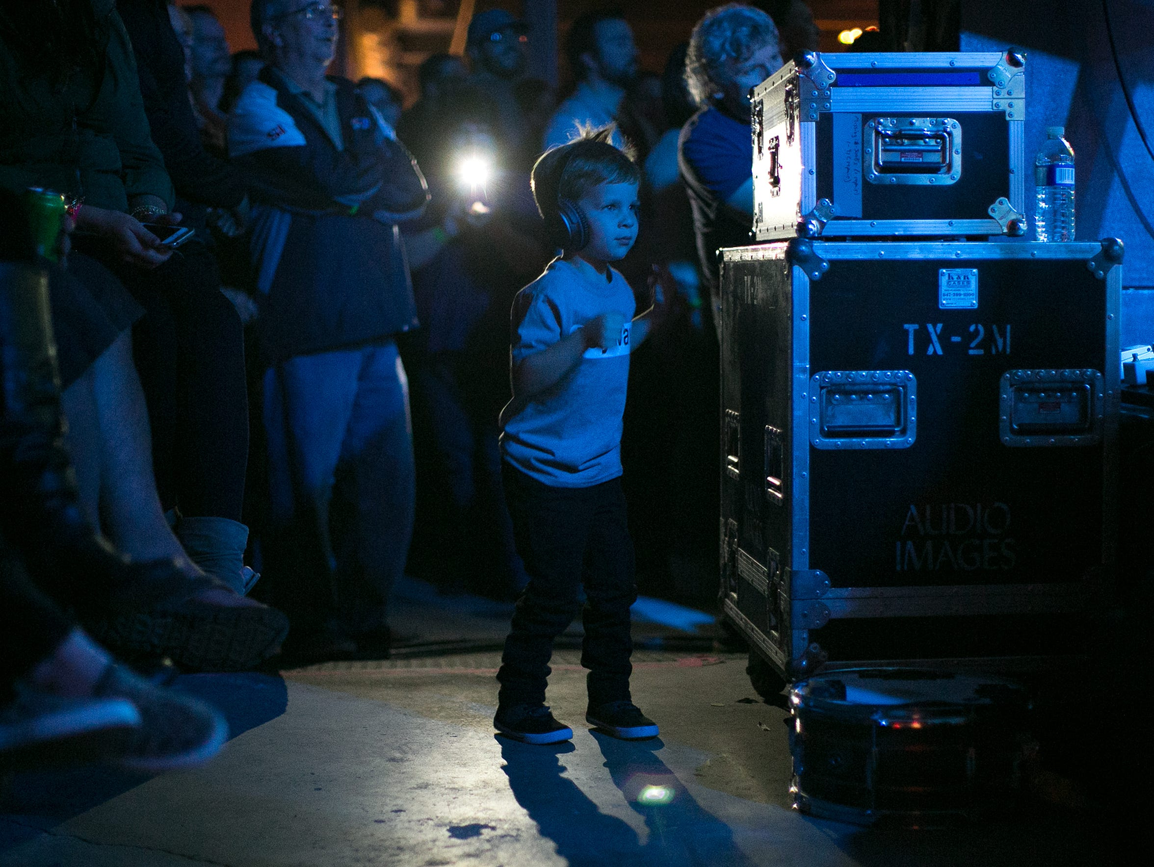 Luca Morinelli, 4, of Greece, dances during an opening