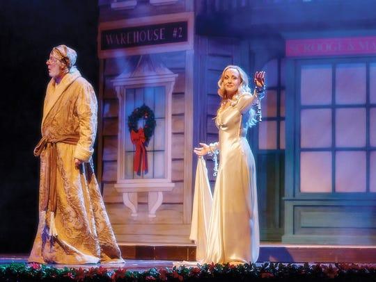 Paris Peet as Ebenezer Scrooge is haunted by The Spirit